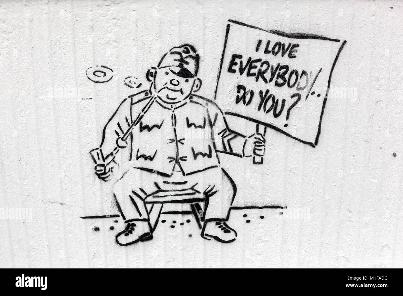 Good Soldier Svejk, literary figure, graffity, Czech Republic - Stock Image