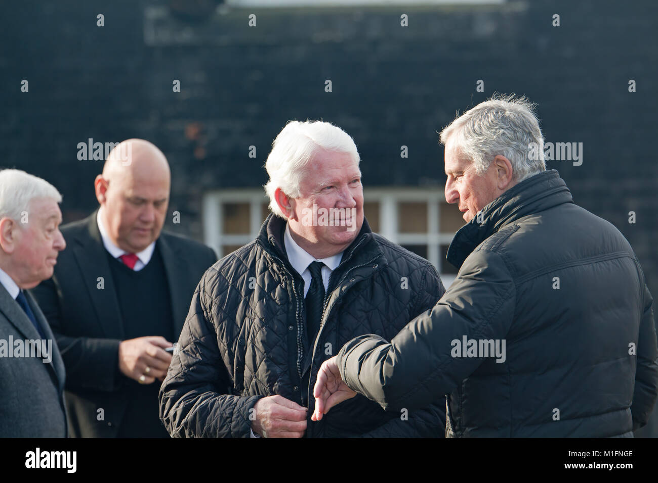 Warrington, Liverpool, UK. 30th Jan, 2018. Ex Liverpool player's Chris Lawler, Ray Clemence and Ian Callaghan - Stock Image