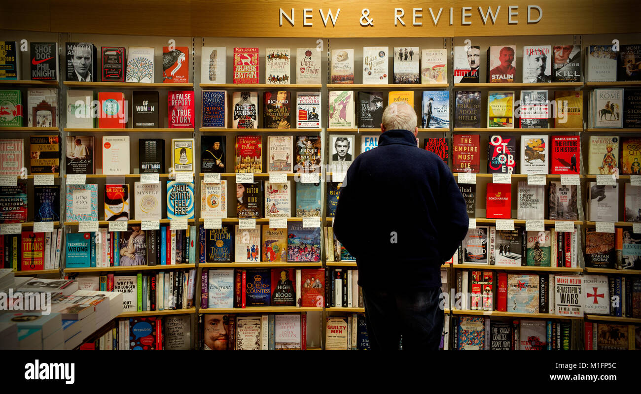 Cambridge, UK. 30th January, 2018. Waterstones Book Shop in Cambridge England UK 30 january 2018 After the success - Stock Image