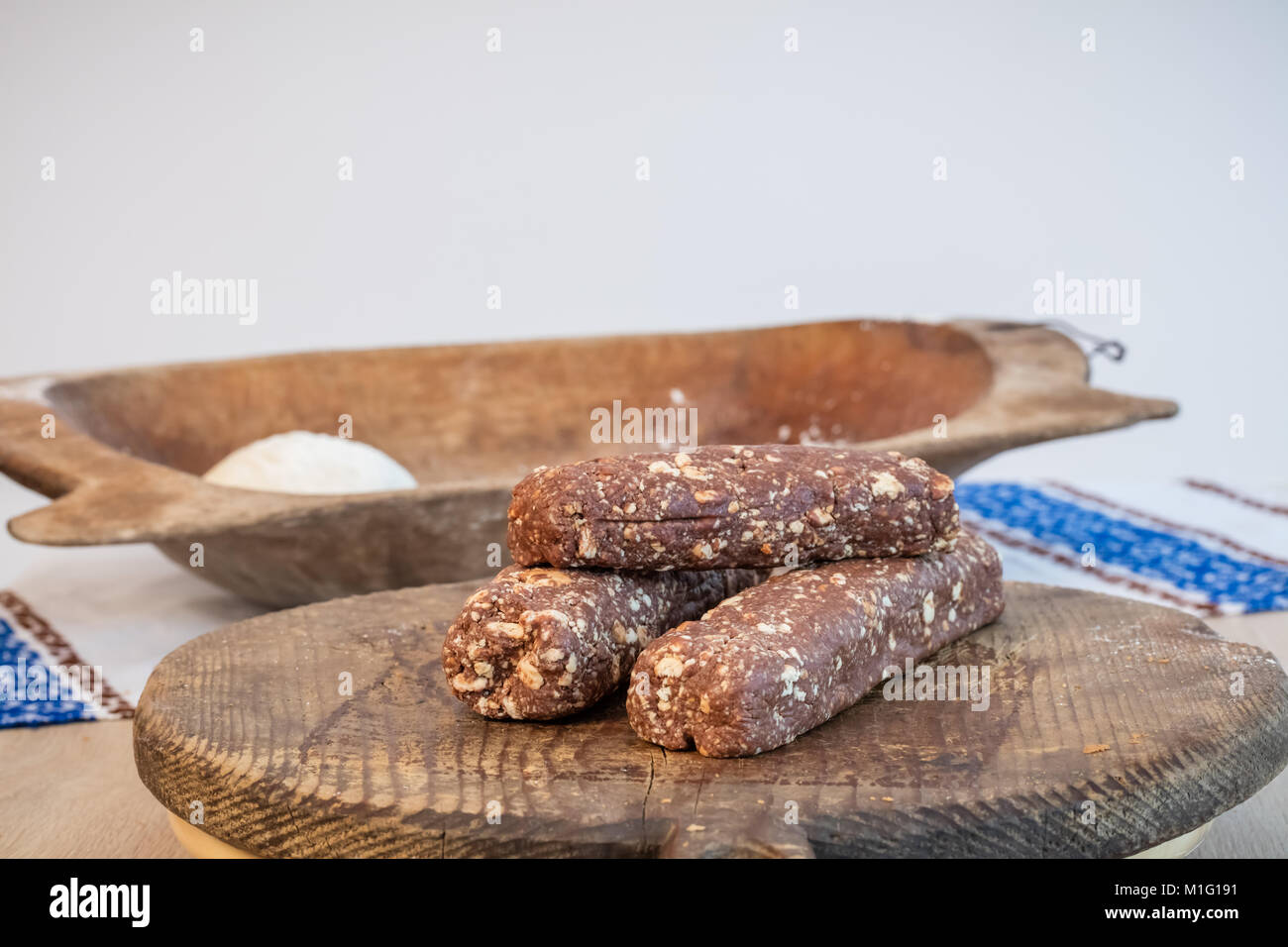 Biscuits with cocoa - Stock Image