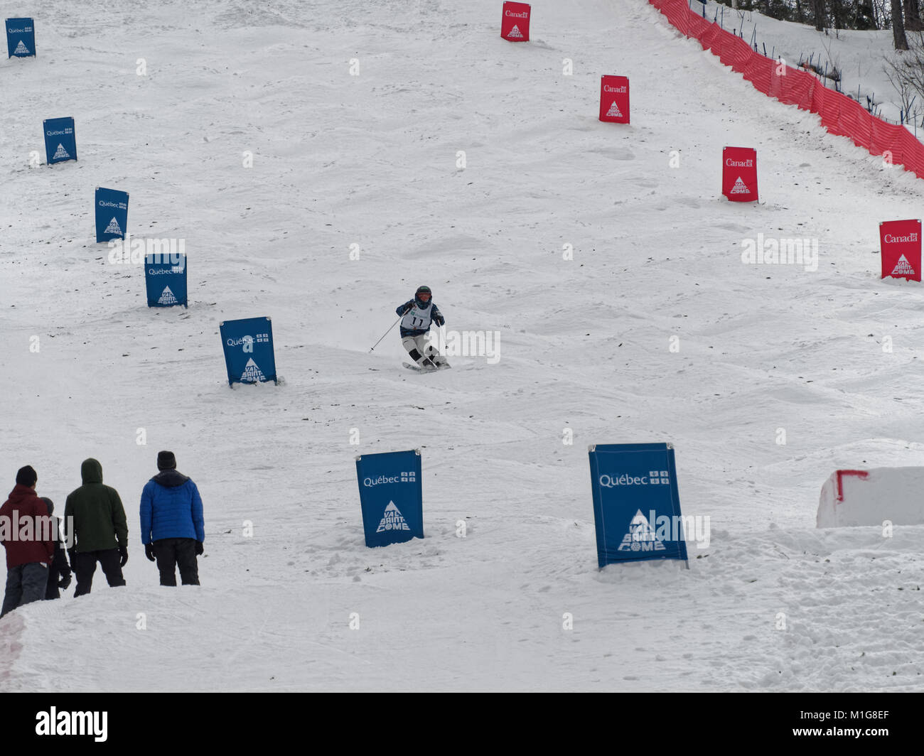 Val Saint-Come,Canada 1/27/2018. Kosuke Sugimoto of Japan competes at the 2018 NorAm Moguls Championship - Stock Image