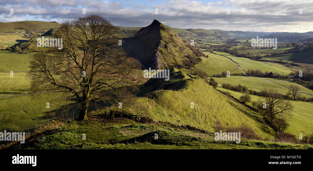 Parkhouse Hill and the Dove Valley - Stock Image