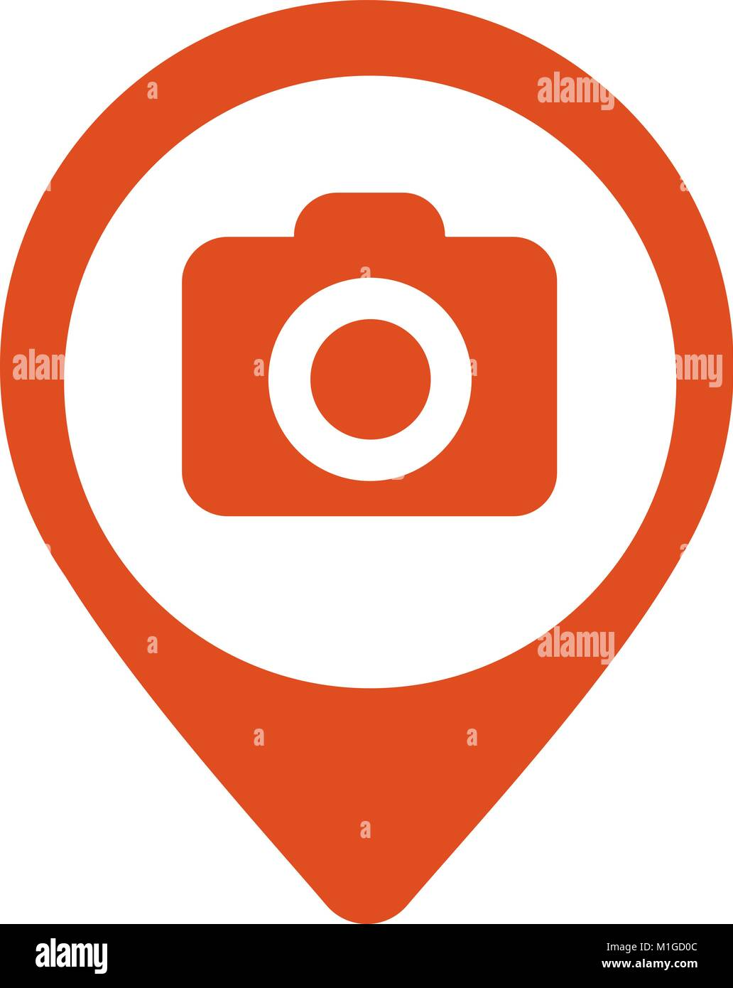 Photo Camera flat mapping pin icon - Stock Vector
