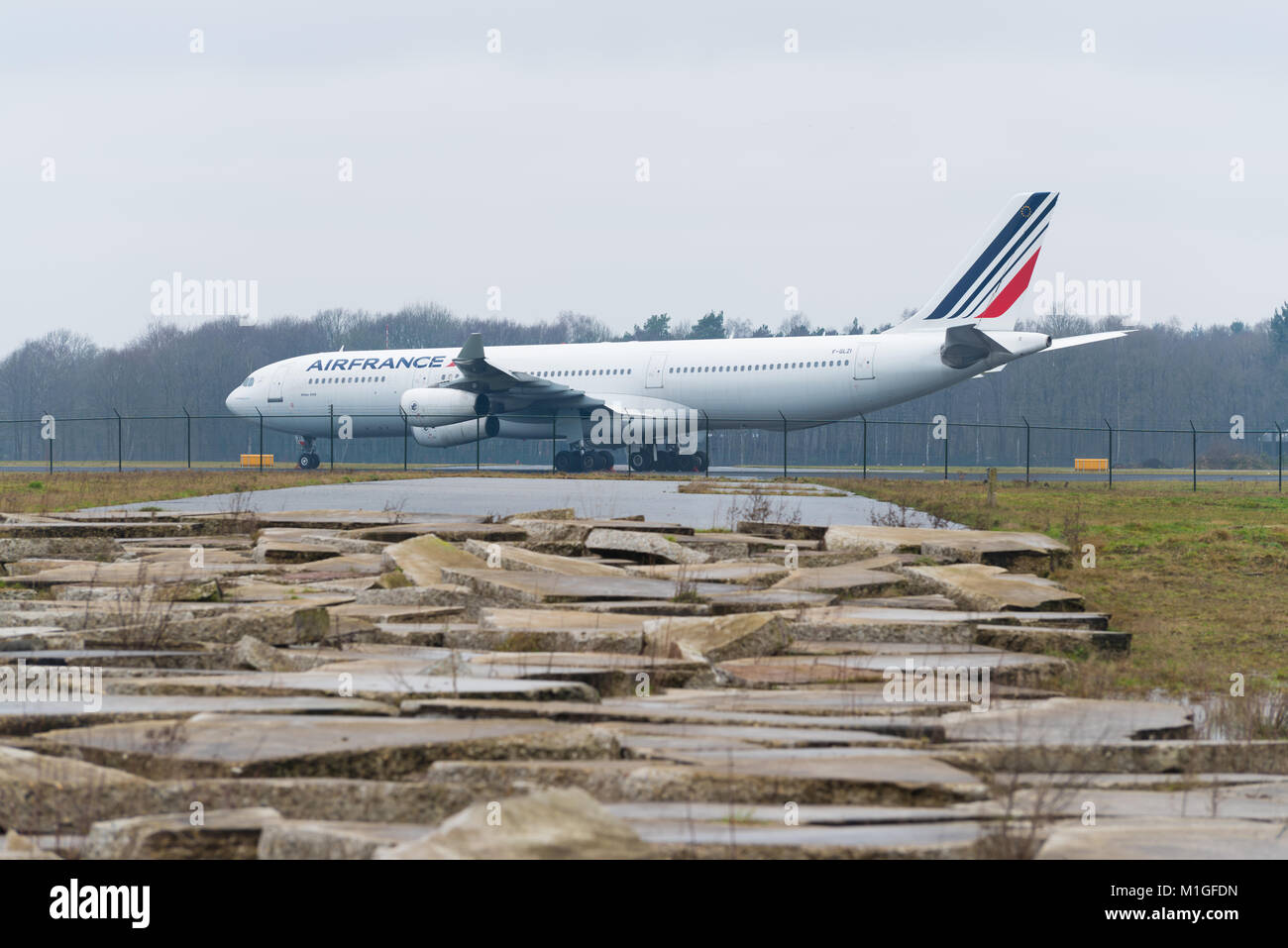 Enschede Netherlands January 20 2018 Air France Airbus A340 300 Stock Photo Alamy