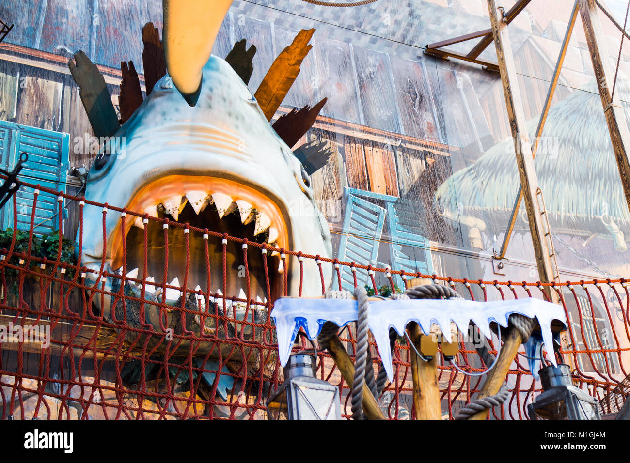 Winter Wonderland, funfair, Hyde Park - Stock Image