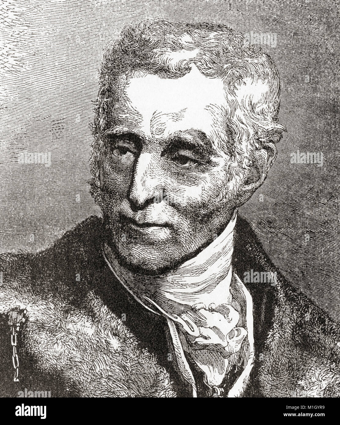 Arthur Wellesley, 1st Duke of Wellington, 1769 – 1852.  Anglo-Irish soldier, statesman and Prime Minister of the - Stock Image