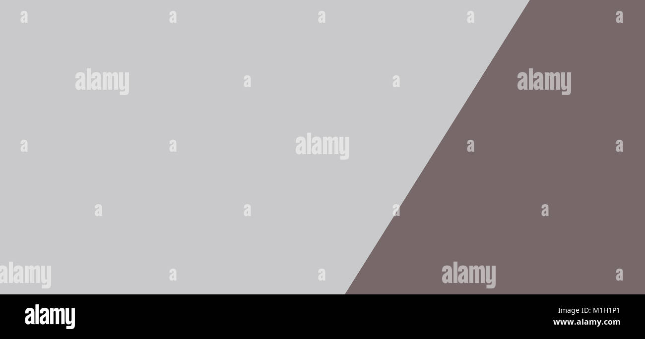 Two tone of grey paper banner background - Stock Image