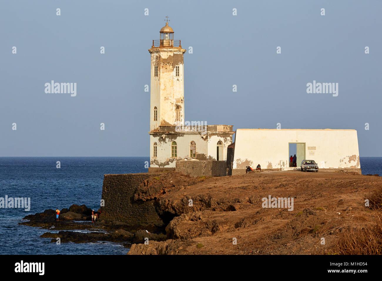 Dona Maria Pia Lighthouse, Praia, Santiago, Cape Verde Stock Photo