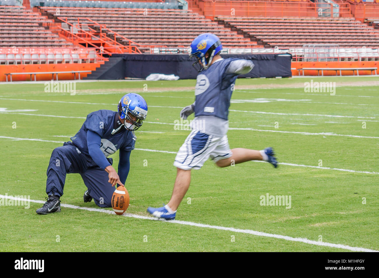 American Football Practice Kick Stock Photos American