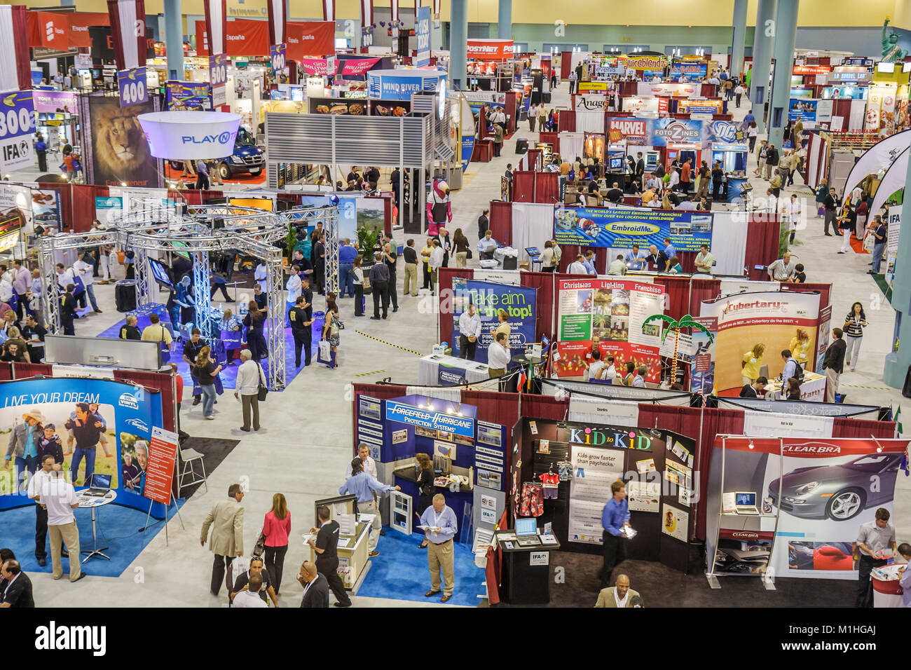 Franchise Expo trade show vendors business booth displays