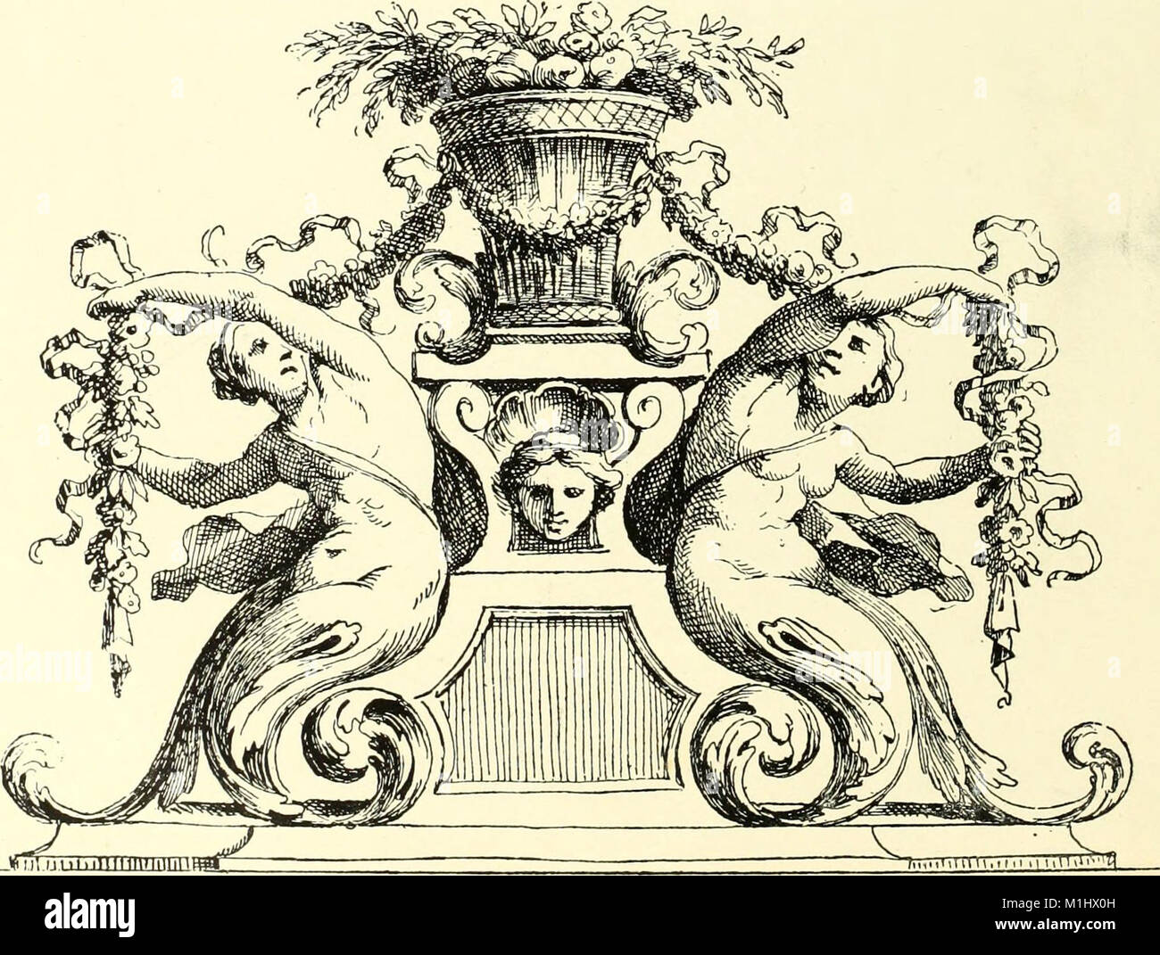 An historical guide to French interiors, furniture, decoration, woodwork, and allied arts during the last half of Stock Photo