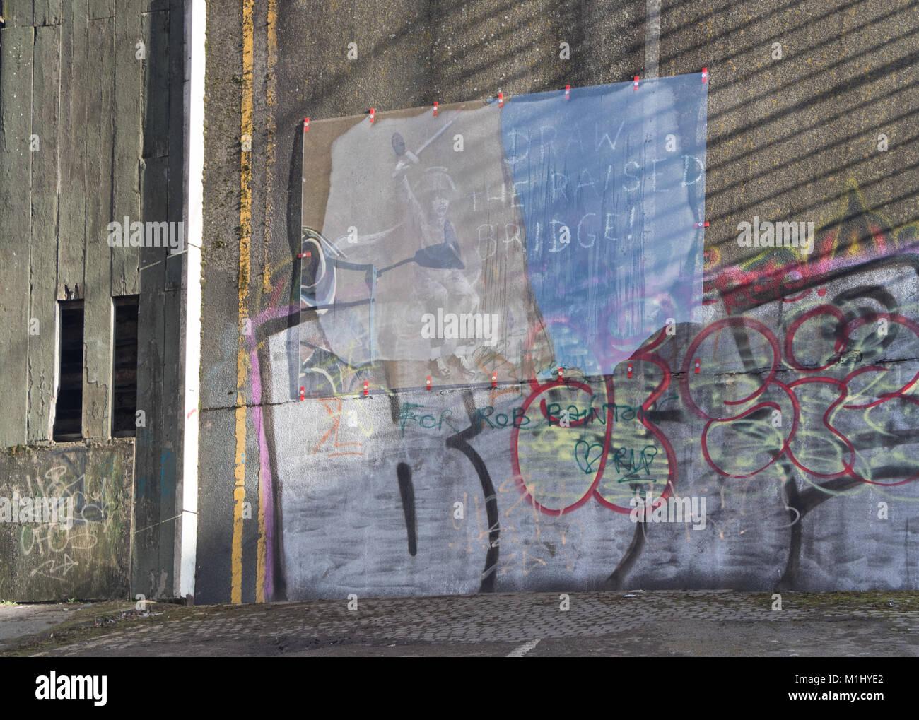 The Banksy art work in Hull - Stock Image