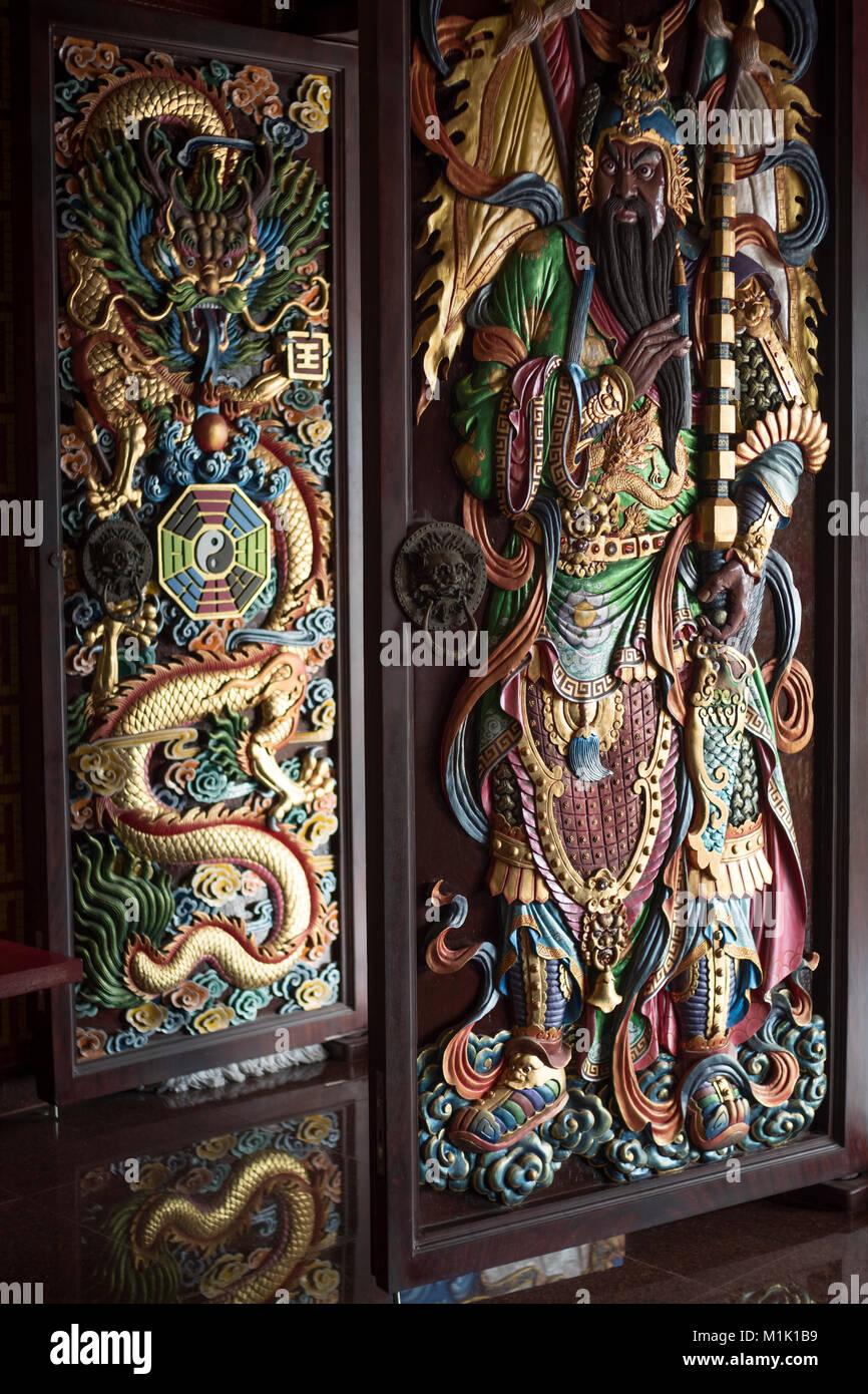 Door God at the Chinese Taoist Baosheng Emperor Shrine in Phuket Island Thailand. 16 & Chinese Door Gods Stock Photos u0026 Chinese Door Gods Stock Images - Alamy