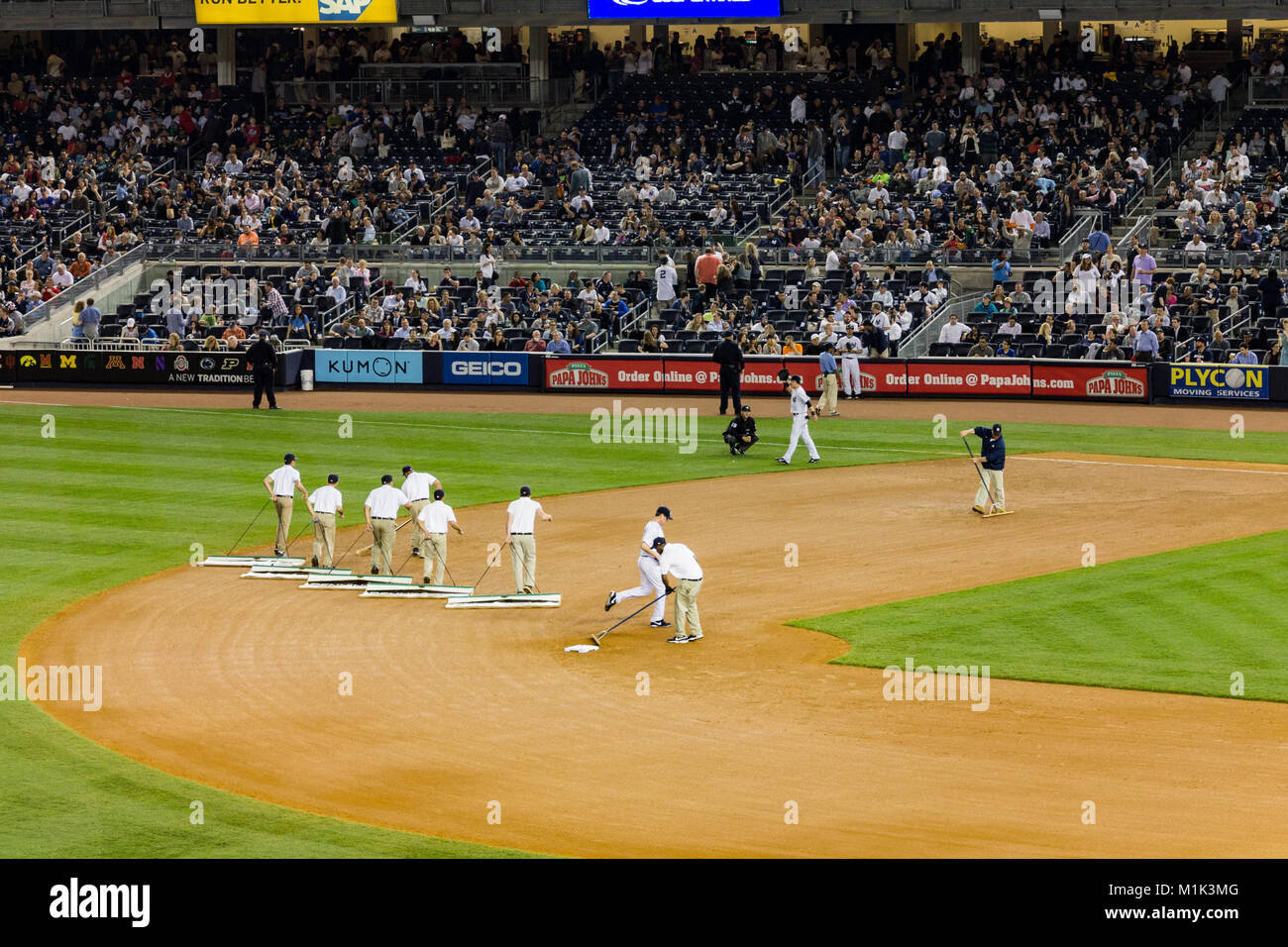 Yankees x Rockies 2014 Baseball New York City Stock Photo