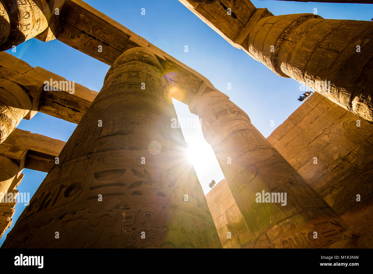 The Karnak temple in Luxor Egypt January 2018 - Stock Image