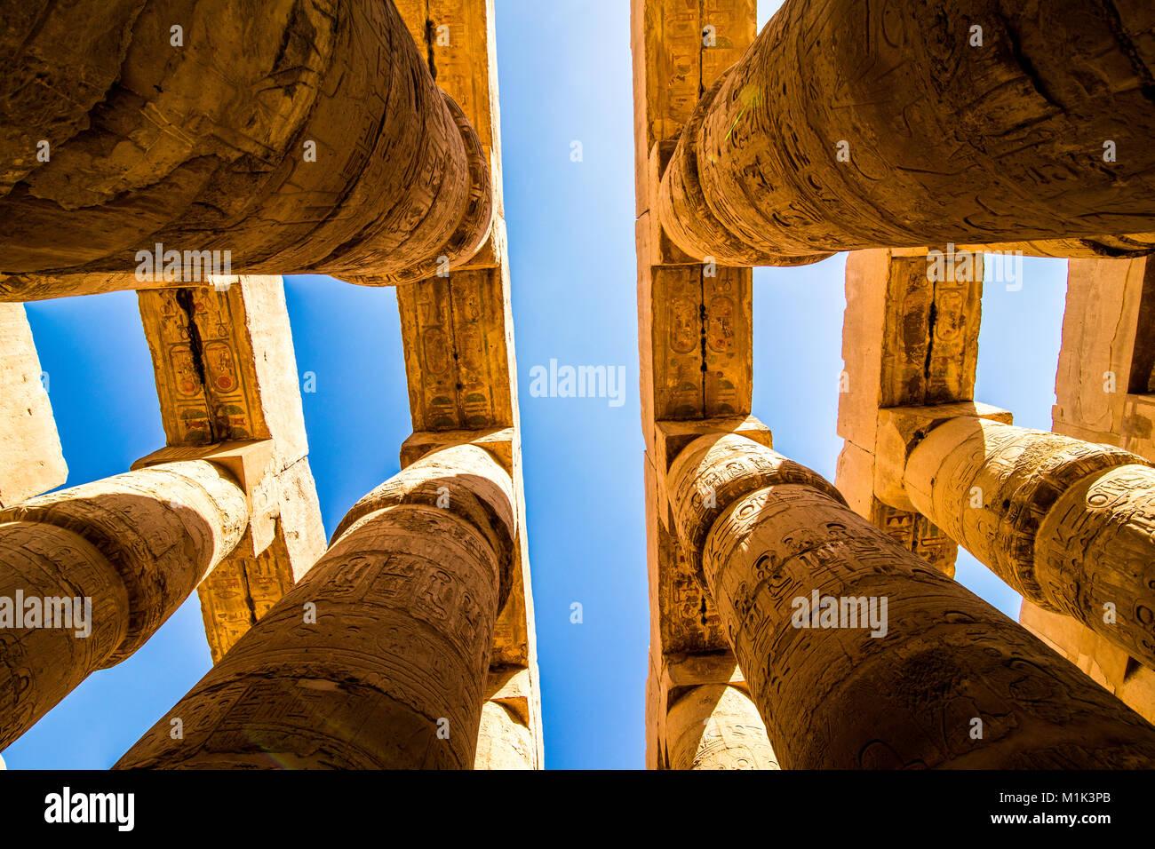 The Karnak temple in Luxor Egypt January 2018 - Stock Image