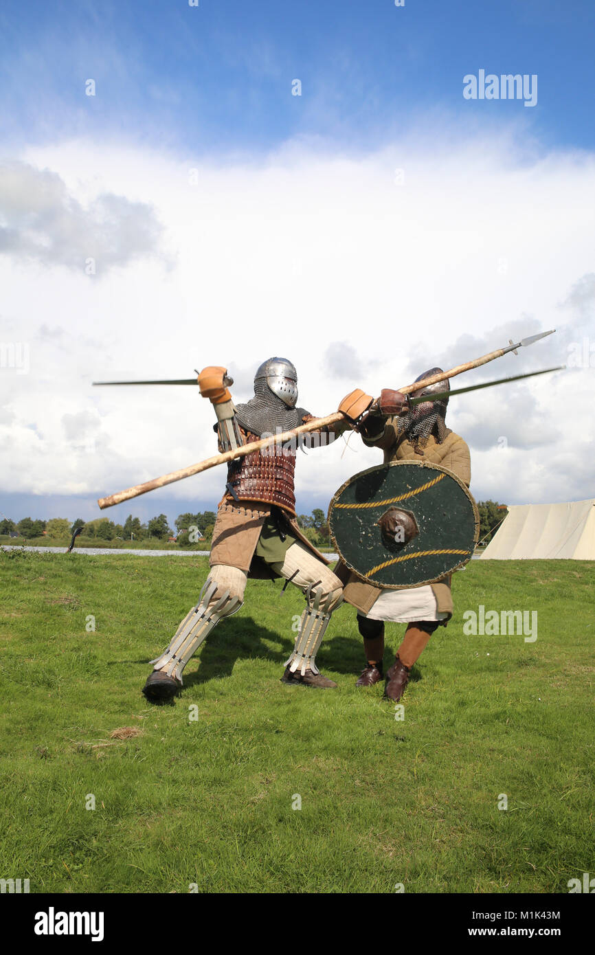 in the fight - Stock Image