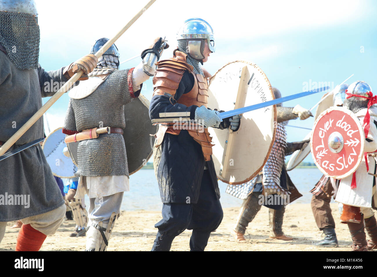 viking fight - Stock Image