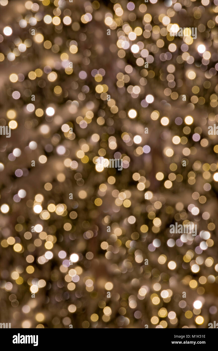 Christmas lights, blurry, background image - Stock Image
