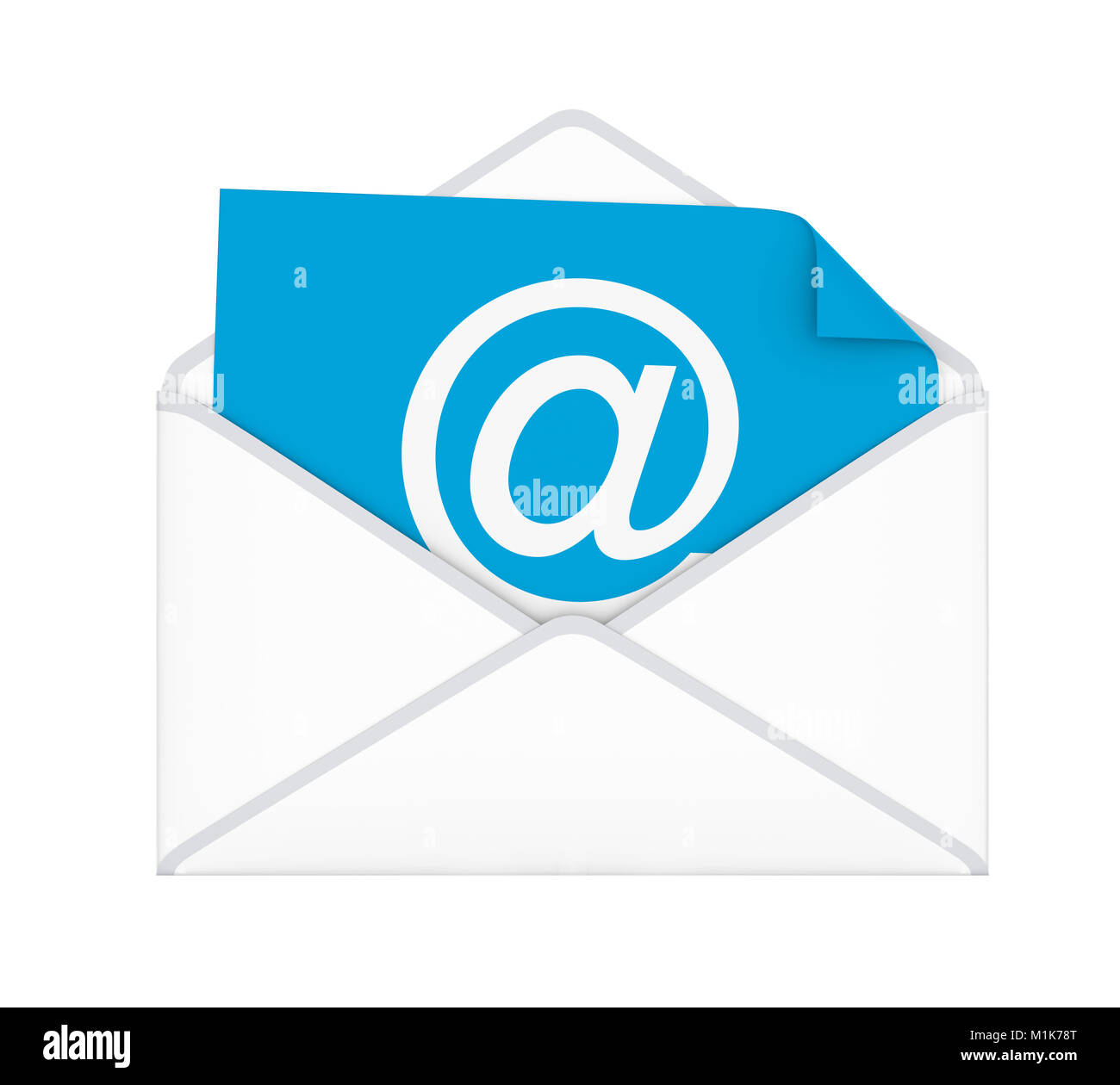 Envelope with Email Sign Isolated - Stock Image