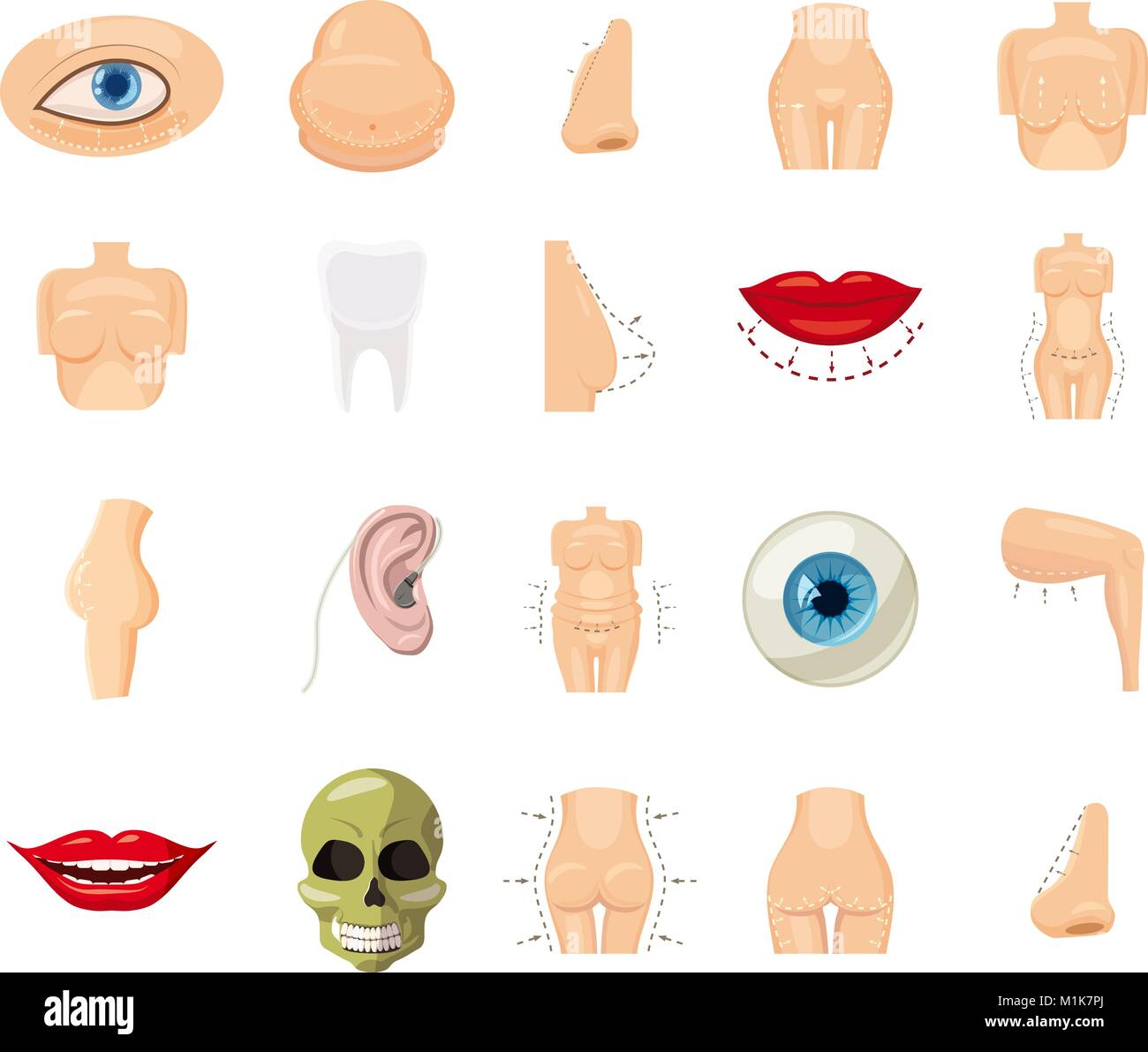 human body icon set cartoon style stock vector image art alamy alamy