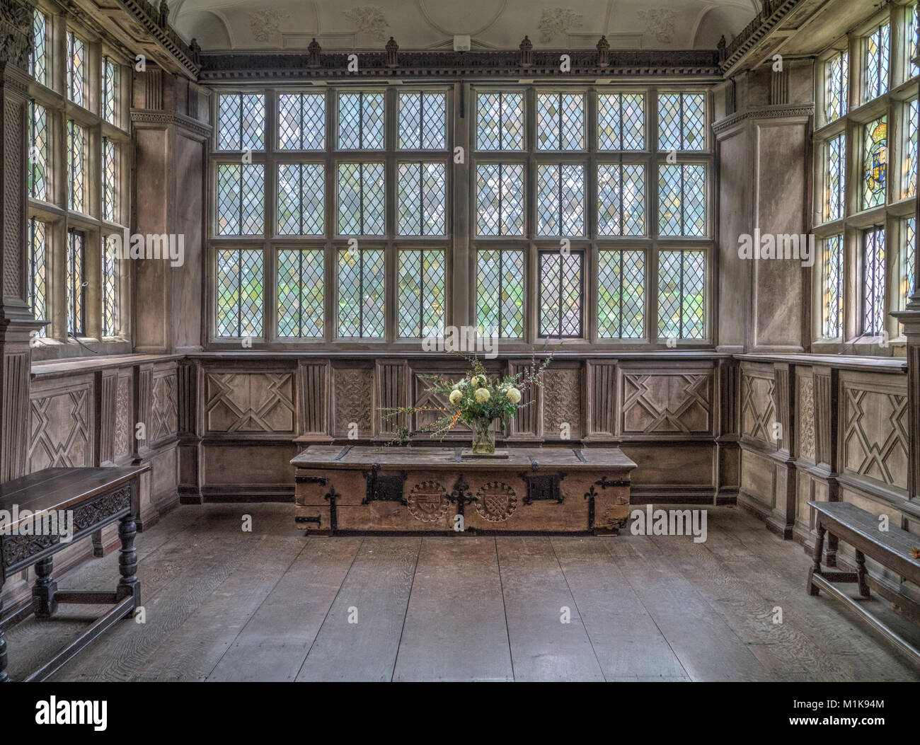 The Interior Of The Long Gallery, Built In The 16th Century, At Haddon Hall