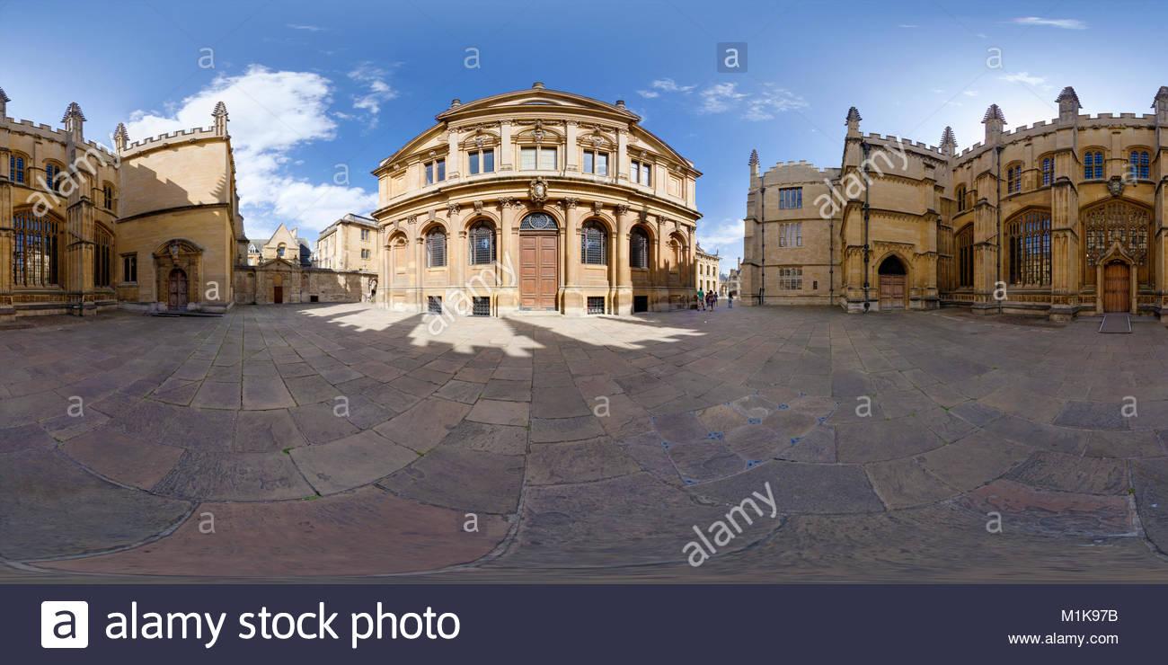 Sheldonian Theatre & Bodleian Library, Oxford University, UK - Stock Image