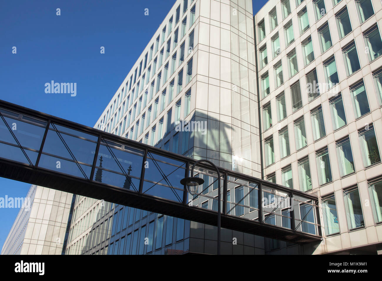 Germany, Cologne, the building Vierscheibenhaus of the Westdeutscher Rundfunk or West German Broadcasting Cologne, Stock Photo