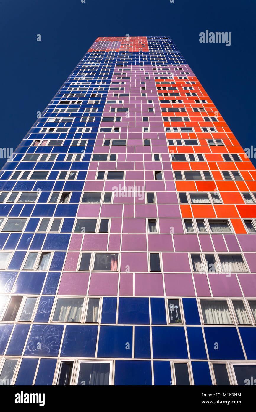 Germany, Cologne, the Herkules skyscraper in the district Ehrenfeld, architect Peter Neufert.  Deutschland, Koeln, - Stock Image