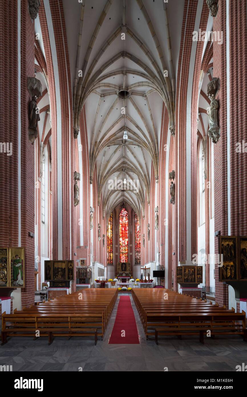 Wroclaw Breslau, Sandkirche, St. Maria auf dem Sande (polnisch Kosciól Najswietszej Marii Panny na Piasku), auch Stock Photo