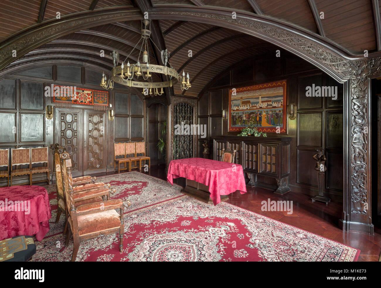 Lwówek Slaski, Löwenberg in Schlesien, Rathaus, Anbau 1903-1905 von Hans Poelzig erbaut, Hochzeitszimmer - Stock Image