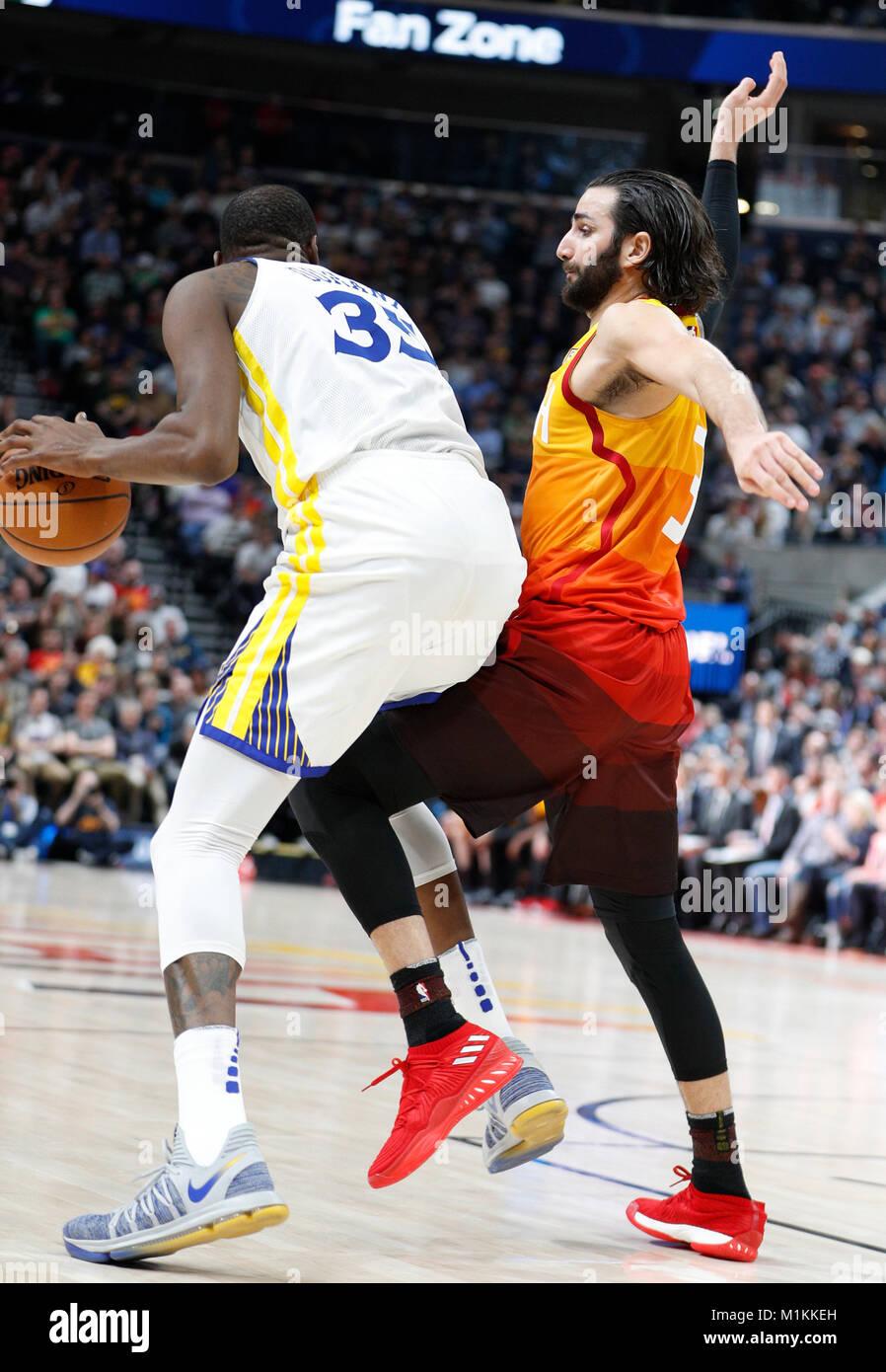 the latest 90431 5b90f Salt Lake City, USA. 30th Jan, 2018. Utah Jazz guard Ricky Rubio