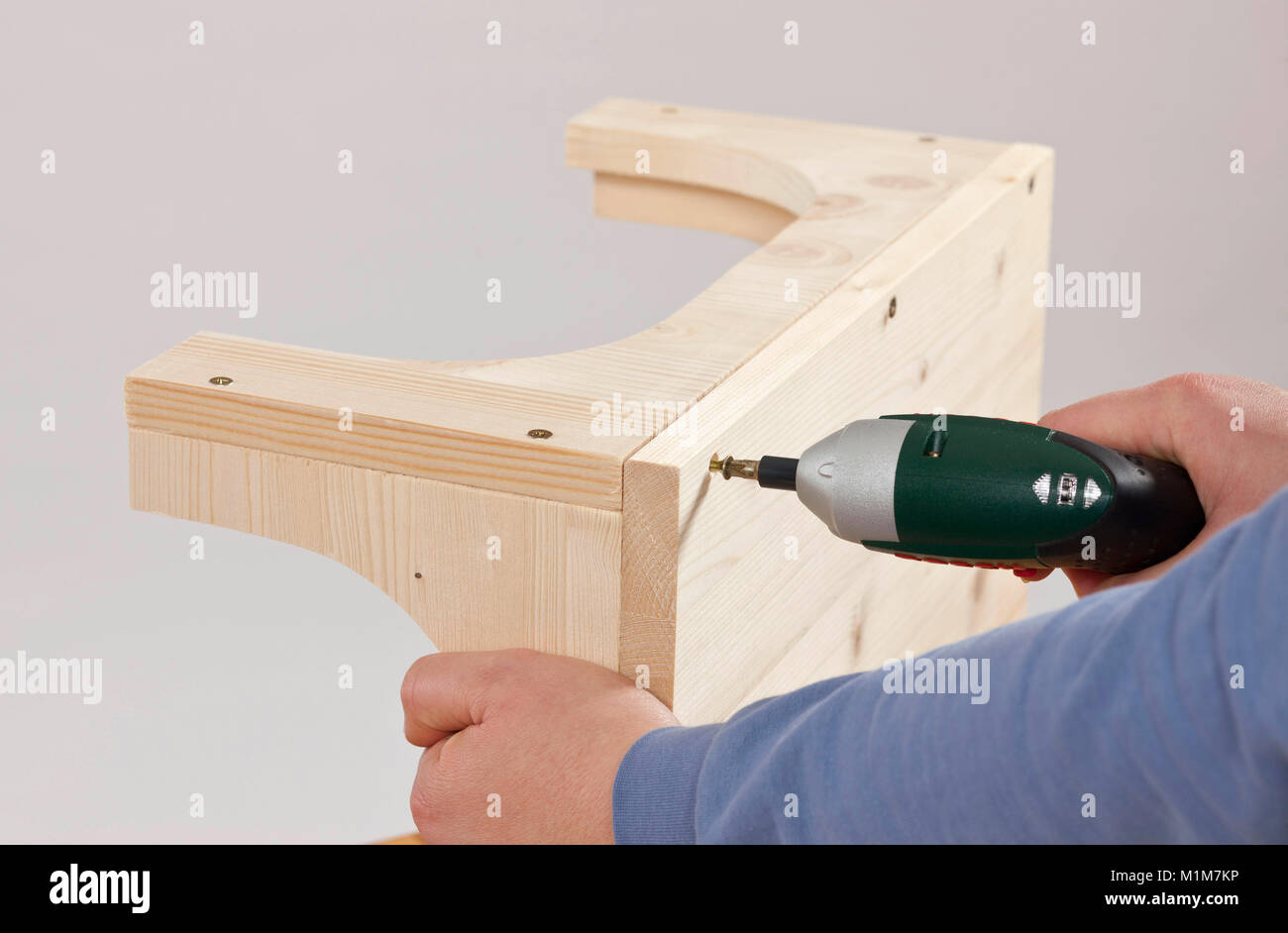 Guinea Pig, Cavie. Assembly instructions for a selfmade Cavie house. Germany - Stock Image