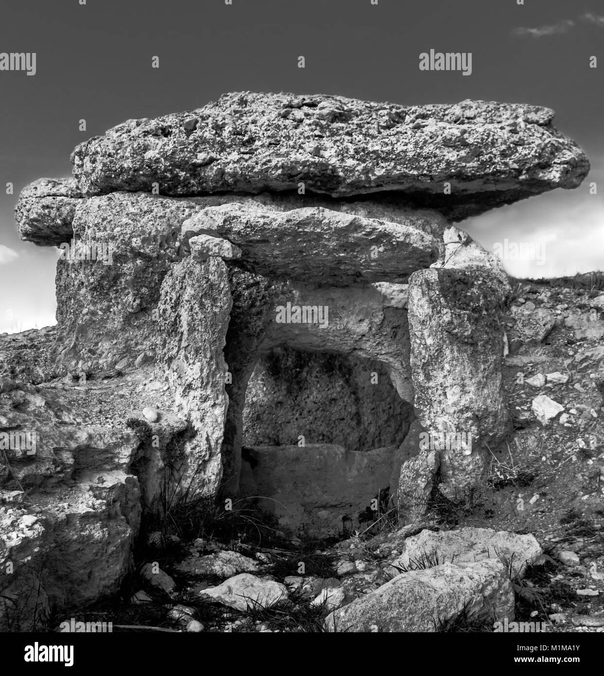Dolmen in Spain - Stock Image