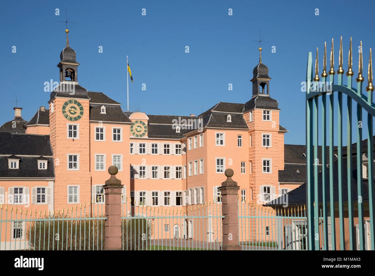 Schloss Schwetzingen, Schwetzingen- Palace, Schwetzingen, Baden-Wurttemberg, Germany, Europe - Stock Image