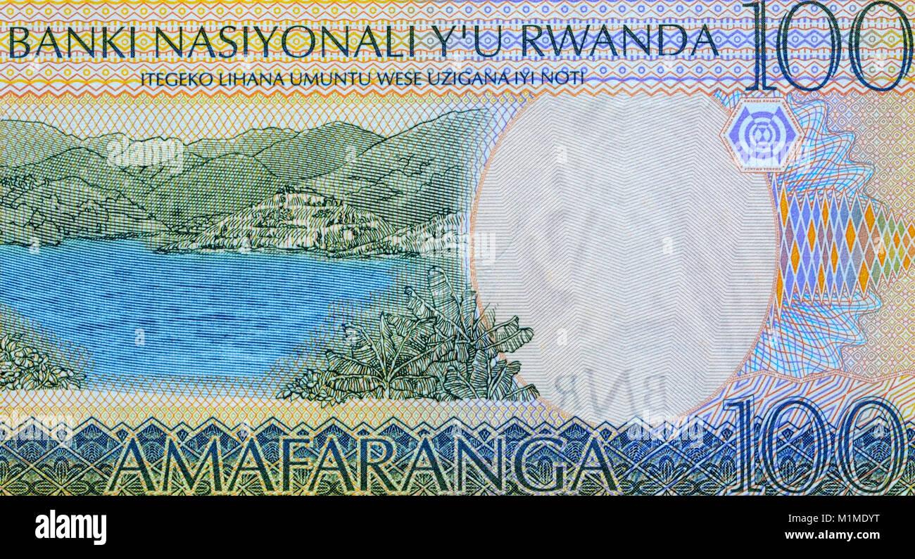 Rwanda 100 One Hundred Francs Bank Notes Stock Photo