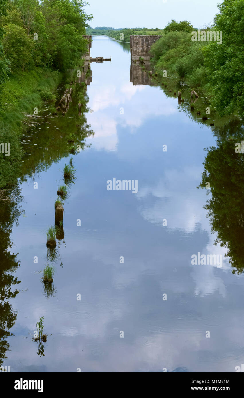 canal - an artificial lake, navigable channel Stock Photo