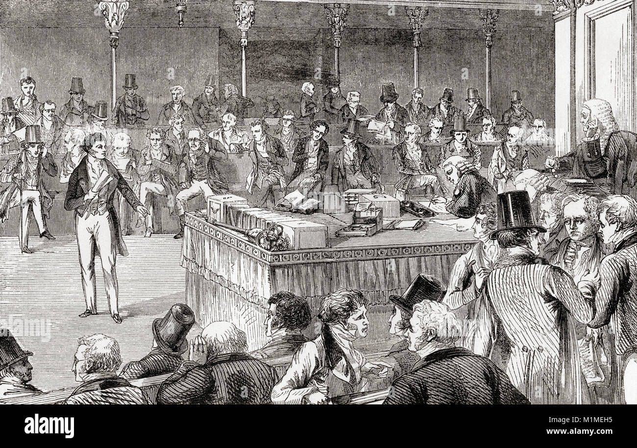 Lord John Russell introducing the Reform Bill in the House of Commons in  1832. John