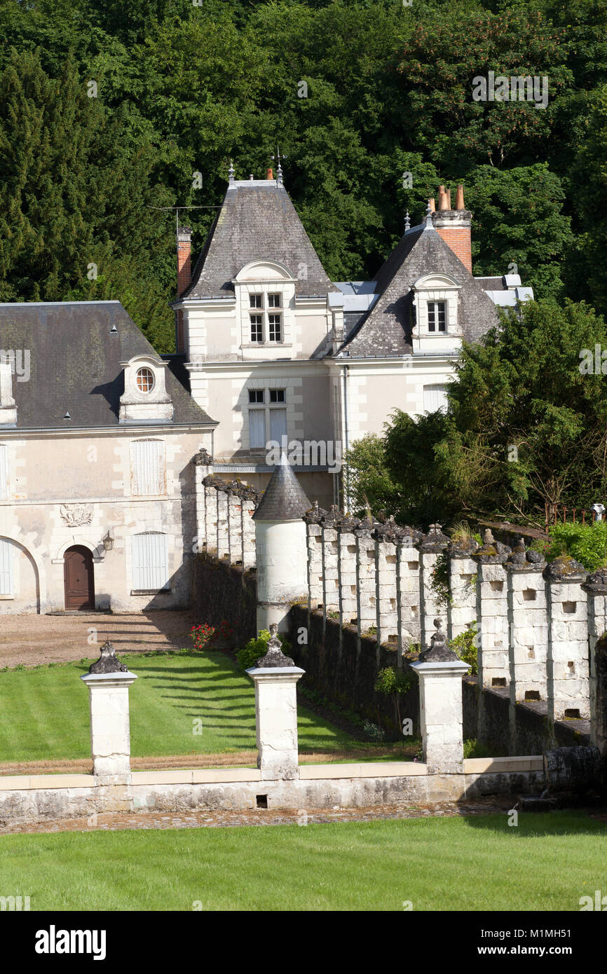 Chartreuse du Liget - Cartusian monastery founded by the Plantagenet king Henry II. Loire Valley, France - Stock Image