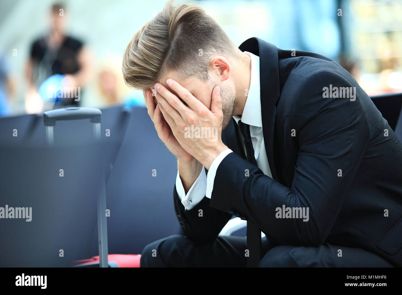 delayed flight - Stock Image