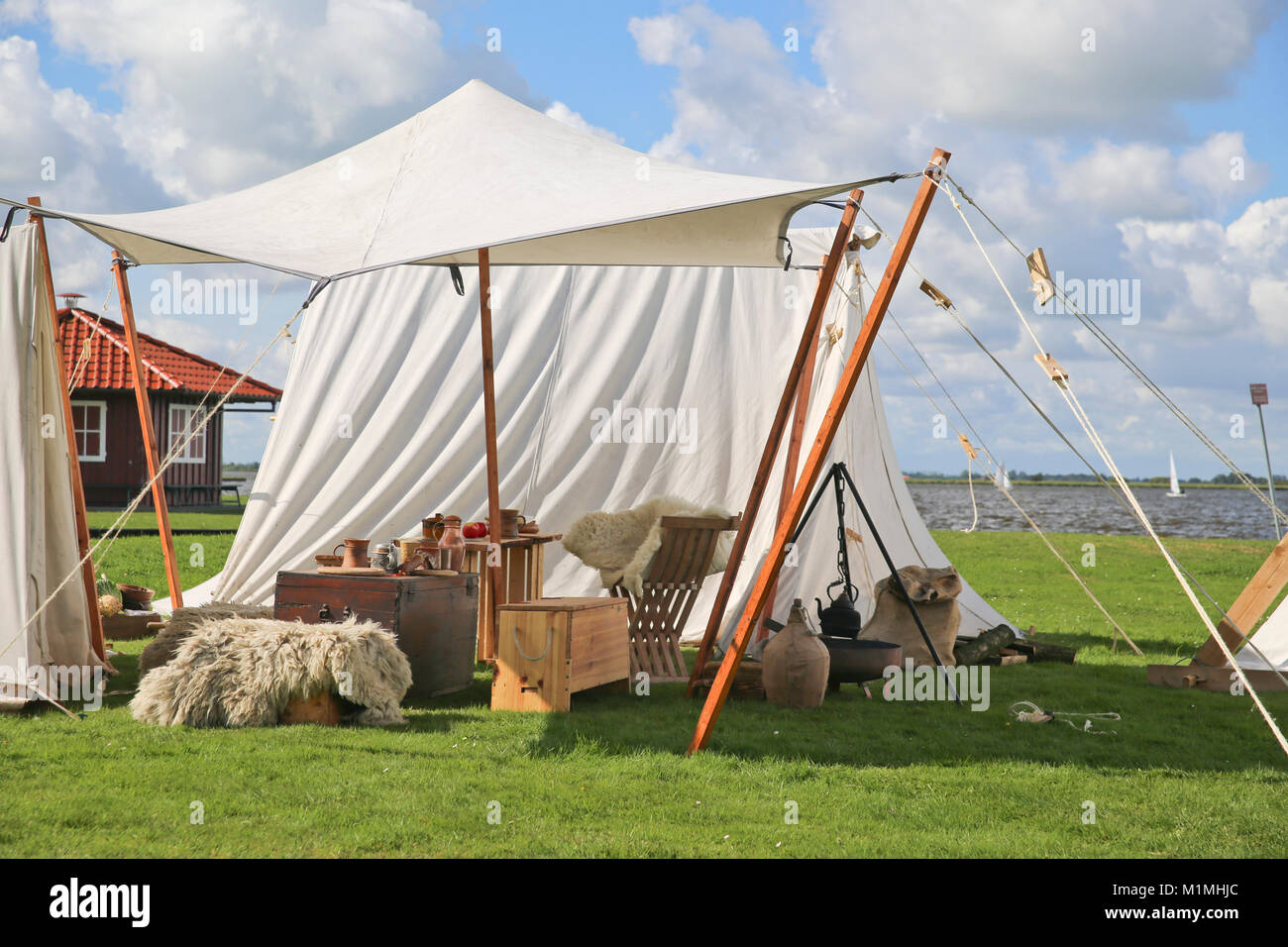 viking camp - Stock Image