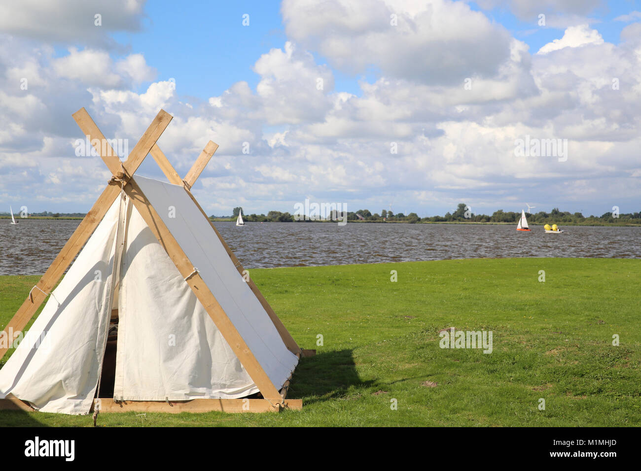 viking tent - Stock Image