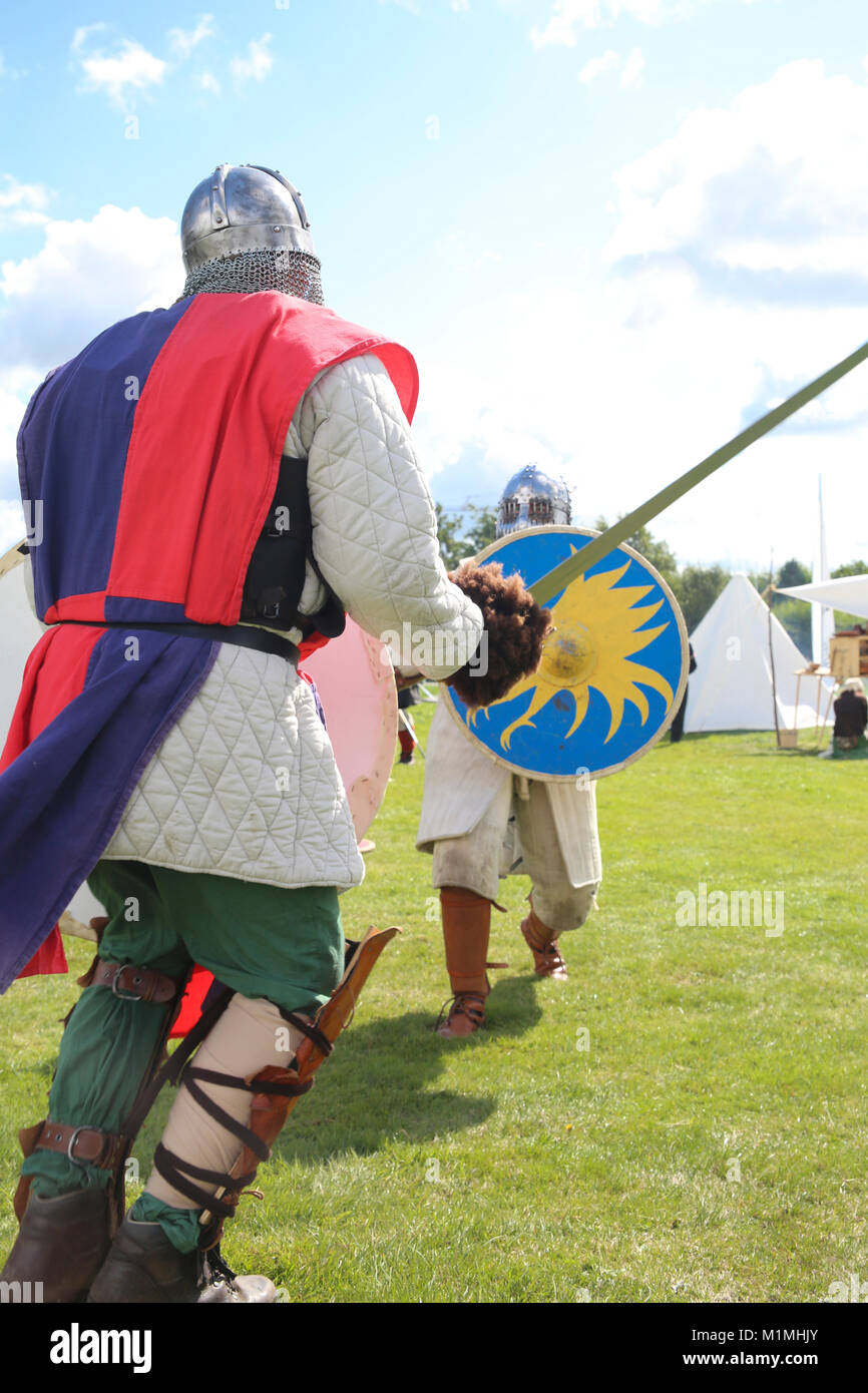 viking fight on the water - Stock Image