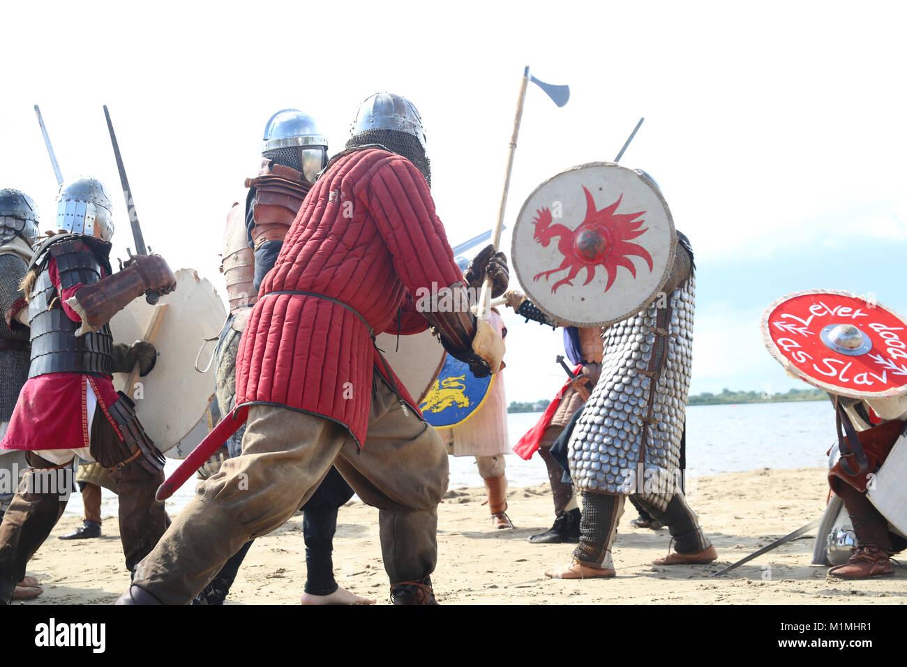 viking battle - Stock Image