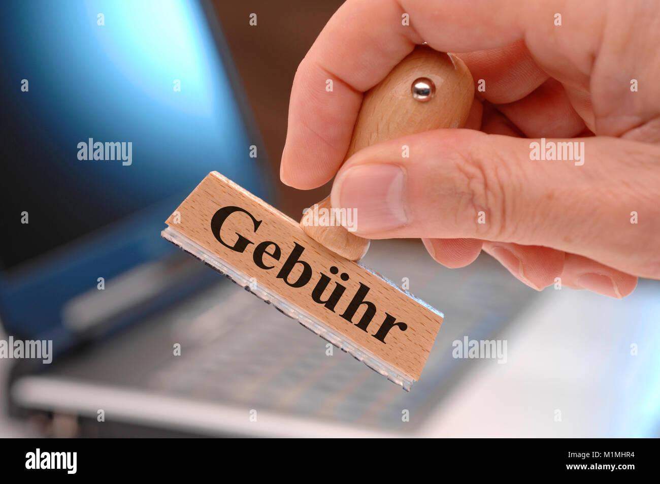 Stempel mit Gebühr - Stock Image