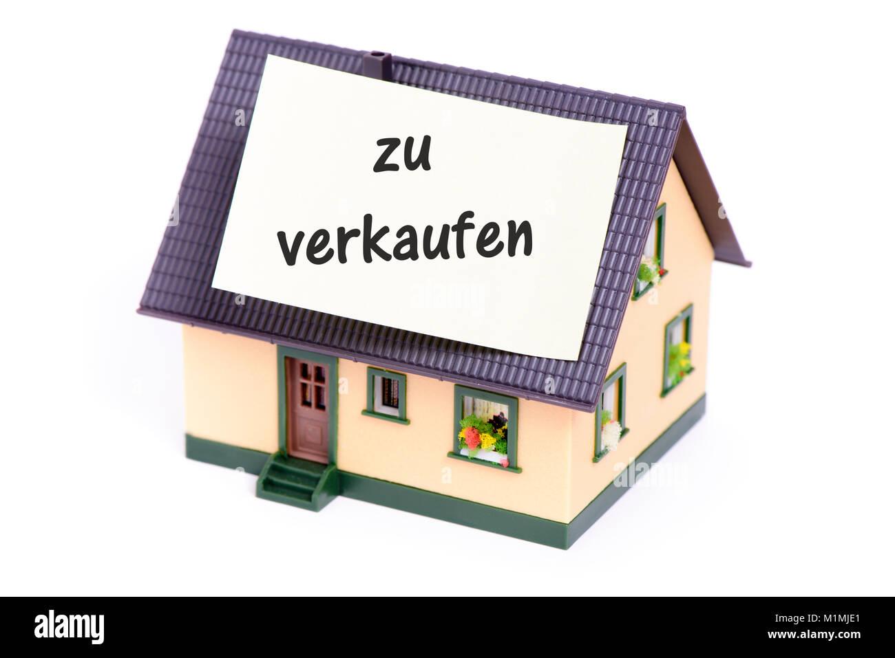 Haus zu verkaufen - Stock Image