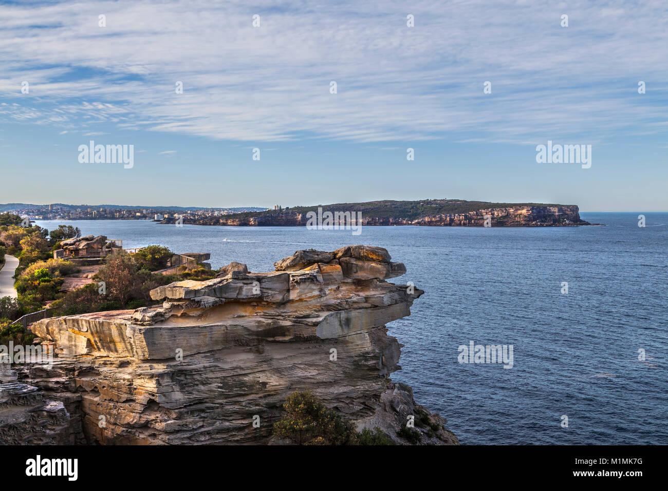 Coastline,Gap Park,Watsons Bay,Sydney,New South Wales,Australia - Stock Image