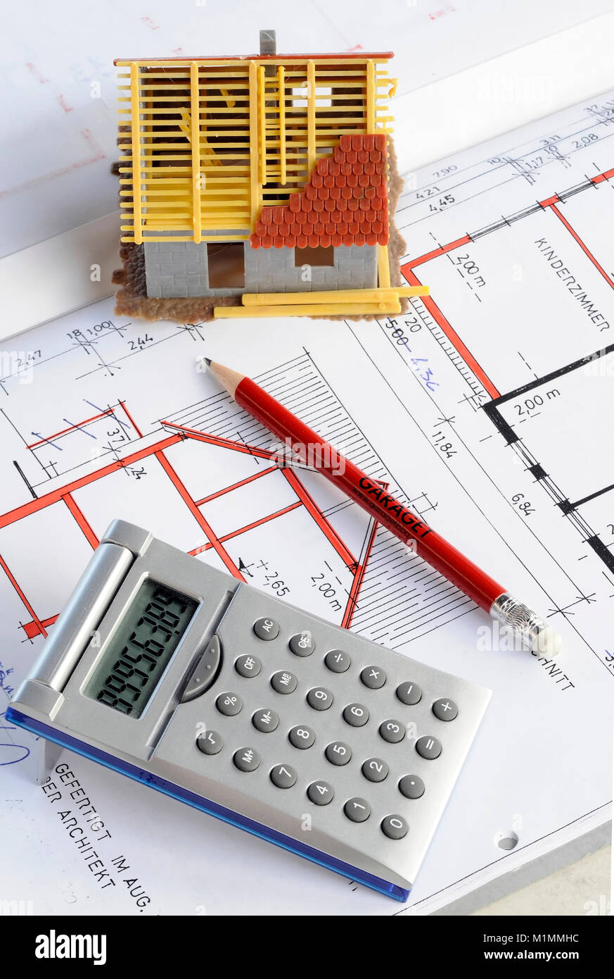 Construction costs residential property for owner-occupied homes real estate market, Wohneigentum Eigenheimzulage Stock Photo