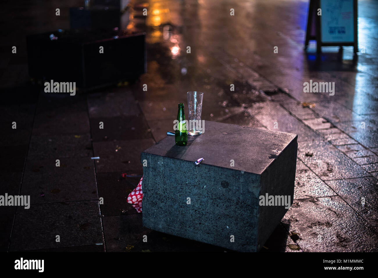 Cardiff, Wales, United Kingdom, 19/01/18. The End of Dry January. Dry January marks the month where people choose Stock Photo