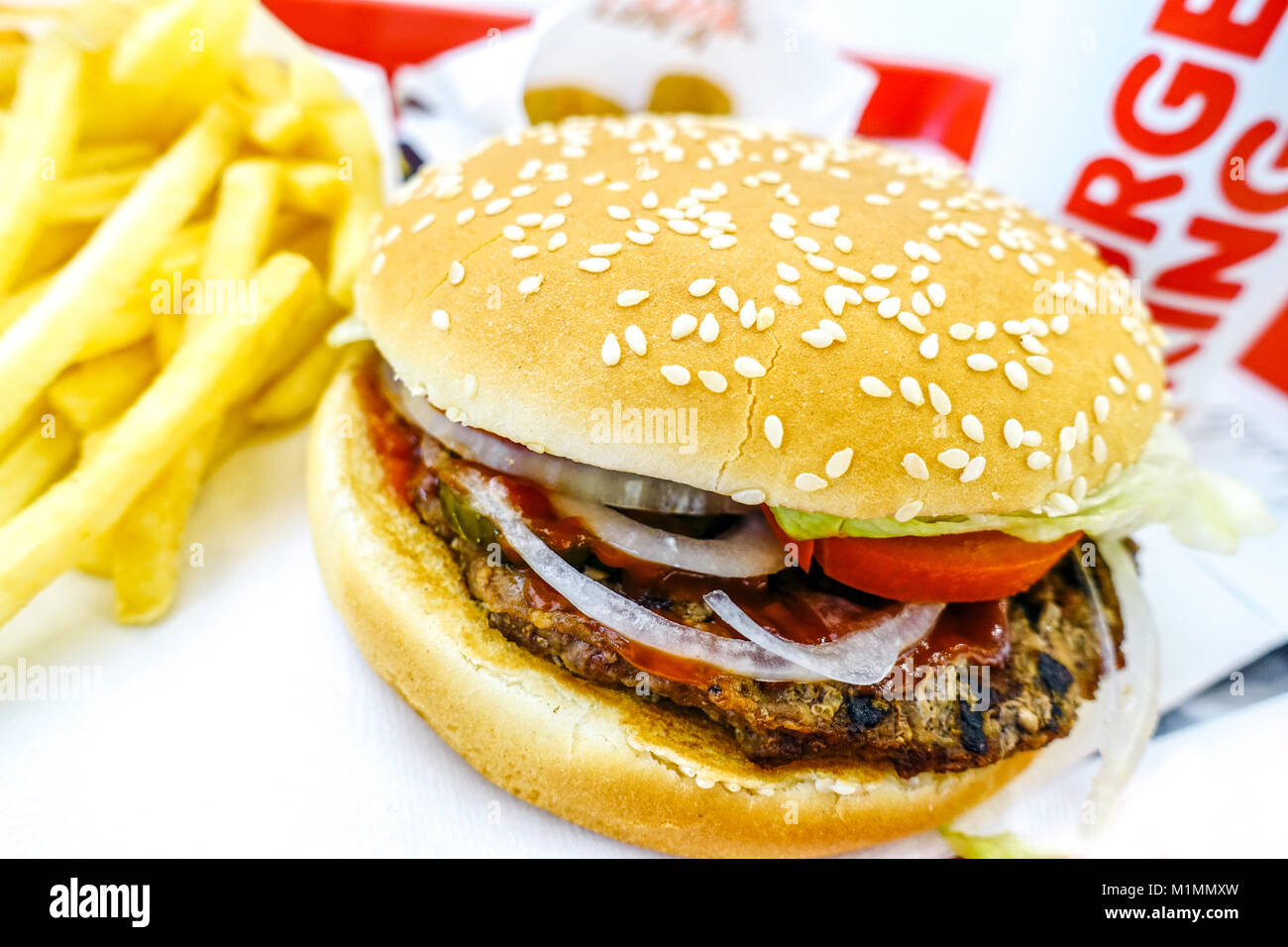Burger King whopper meal menu Stock Photo: 173173809 - Alamy